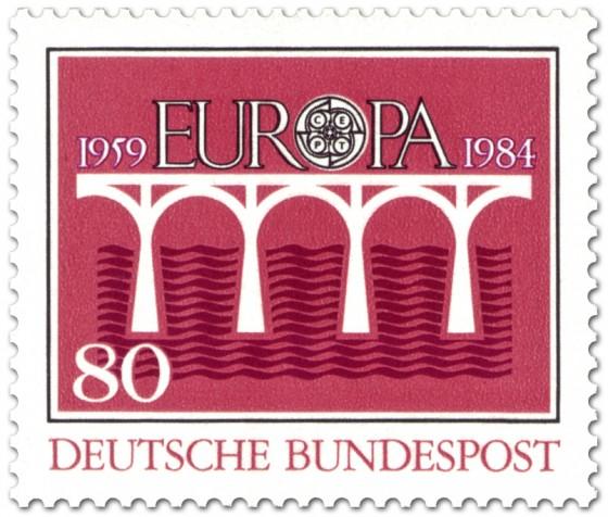 Briefmarke: Brücke Europamarke (Rot)