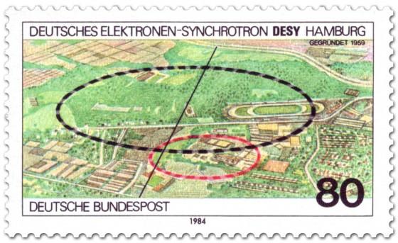Briefmarke: Desy Hamburg Elektronen Synchrotron