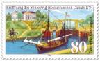 Briefmarke: 200 Jahre Eider-Kanal in Schleswig-Holstein