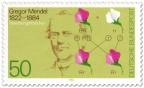 Briefmarke: Gregor Mendel (Biologe), Vererbungslehre