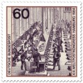 Briefmarke: Hauptpostamt Berlin: Briefsortierung um 1880