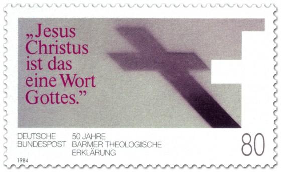 Briefmarke: Kreuz Barmer Theologische Erklärung