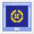 Briefmarke: Logo des Europäischen Parlaments