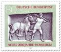 Briefmarke: Pferd und Knecht (Grabstele Neuss)