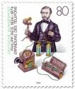 Philipp Reis (Erfinder) mit Telefon