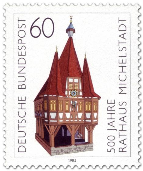 Briefmarke: 500 Jahre Rathaus Michelstadt