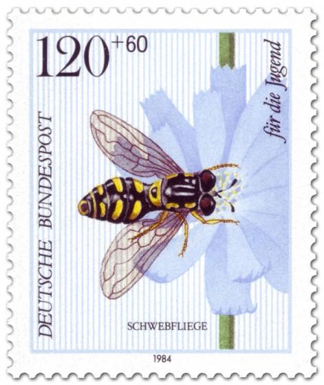 Briefmarke: Schwebfliege