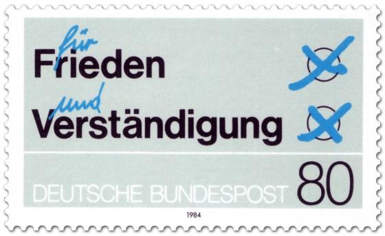 Briefmarke: Stimmzettel: für Frieden und Verständigung