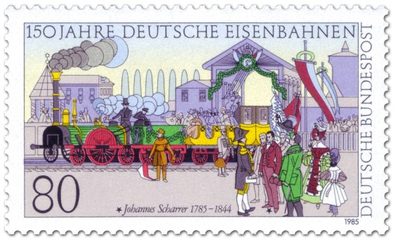 Briefmarke: Adler Eisenbahn Johannes Scharrer
