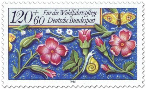 Briefmarke: Blumen Briefmarke
