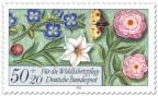 Blumen und Schmetterling (Briefmarke)