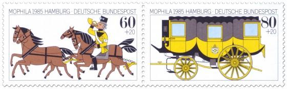 Briefmarke: Briefmarken Mophila 1985 (Zusammendruck)