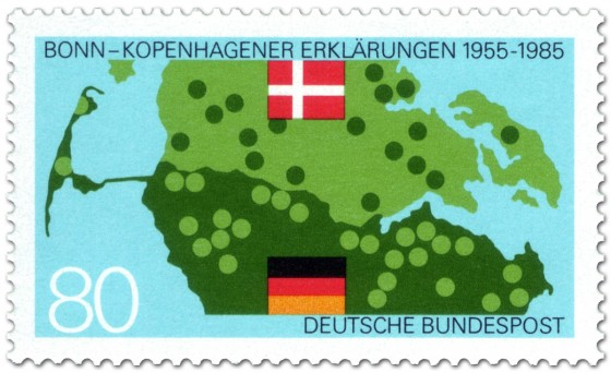 Briefmarke: Grenze von Deutschland und Dänemark