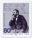 Briefmarke: Fritz Reuter (Dichter)