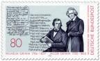 Briefmarke: Gebrüder Wilhelm und Jacob Grimm