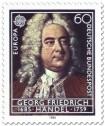 Briefmarke: Georg Freidrich Händel (Komponist)
