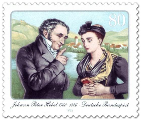 Briefmarke: Johann Peter Hebel (Dichter)