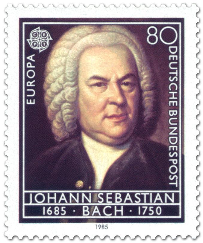 Briefmarke: Johann Sebastian Bach (Komponist), 1985