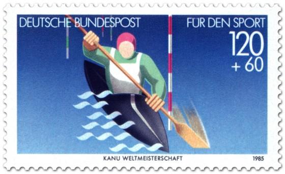 Briefmarke: Kanu - Kajak Ruderer (für den Sport)