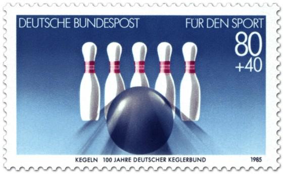 Briefmarke: Kegeln (Für den Sport)