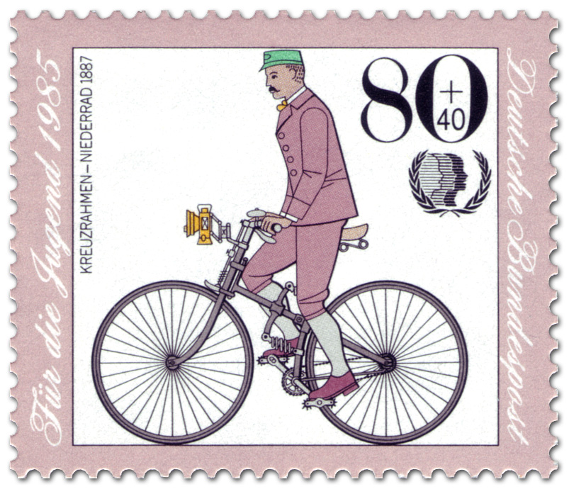 Kreuzrahmen Niederrad, Briefmarke 1985