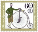 Briefmarke: NSU Germania Hochrad 1886