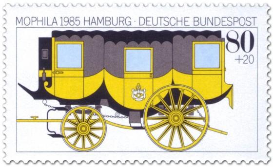 Briefmarke: Postkutsche (Gelber Wagen)