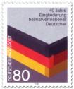 Briefmarke: Eingliederung heimatvertriebener Deutscher (Schwarz Rot Gold)