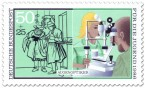 Briefmarke: Augenoptiker (Sehtest)