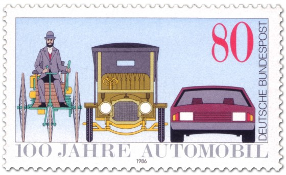 Briefmarke: Automobil Briefmarke