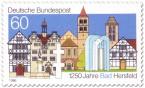 Briefmarke: 1250 Jahre Bad Hersfeld - Stadtansicht