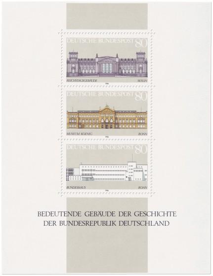 Briefmarke: Briefmarkenblock Bedeutende Gebäude Brd