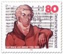 Briefmarke: Carl Maria von Weber (Komponist)