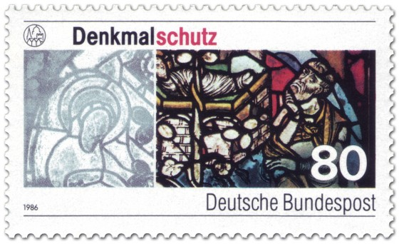Briefmarke: Denkmalschutz - Glasfenster