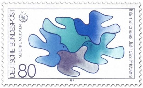 Briefmarke: Friedenstauben Vereinte Nationen