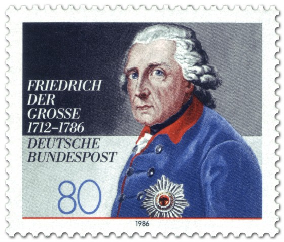 Briefmarke: Friedrich der Grosse (Preußenkönig)