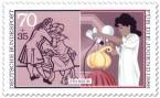 Briefmarke: Friseur - Haare schneiden
