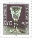 Briefmarke: Gläserner Pokal mit Schnittdekor