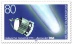 Briefmarke: Halleyscher Komet und Raumsonde Giotto