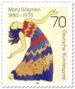 Briefmarke: Mary Wigman (Tänzerin)