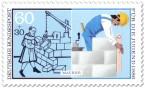Briefmarke: Maurer - Haus bauen