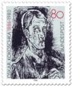 Briefmarke: Oskar Kokoschka Selbstportrait