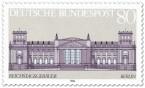 Briefmarke: Reichstagsgebäude in Berlin