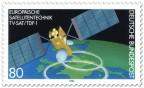 Briefmarke: Satellit über der Erde (TV-Sat/TDF-1)