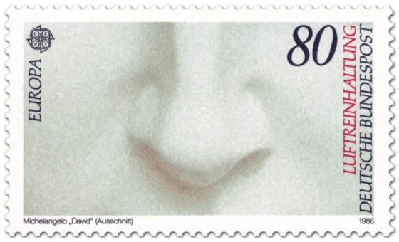 Briefmarke: Schöne Nase (David von Michelangelo)