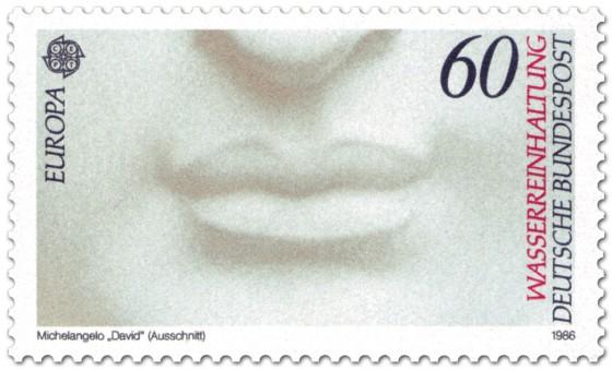Briefmarke: Schöner Mund (David von Michelangelo)