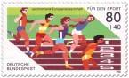 Sport Briefmarke (Leichtathletik EM 86)