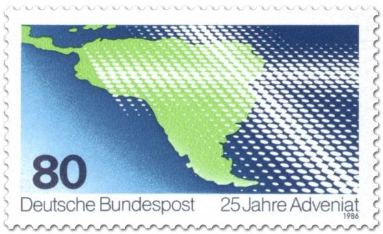 Briefmarke: Südamerika Kreuz Adveniat