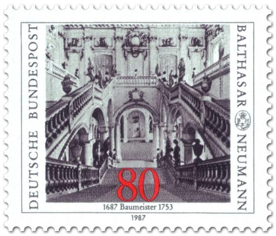 Briefmarke: Barock-Treppenhaus von Balthasar Neumann (Baumeister)