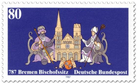 Briefmarke: 1200 Jahre Bischofssitz Bremen